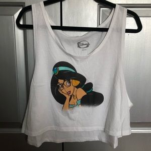 Disney Princess Jasmine cropped tank